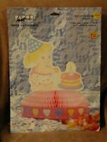 Vintage Baby's First Birthday Party Paper Table Centerpiece Decor Girl honeycomb