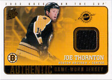 2002-03 Quest for the Cup THORNTON Jersey #3 Boston Bruins Pacific QFTC JOE