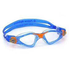 Aqua Sphere Junior Kayenne Swimming Goggles - Clear Lens in Blue/Orange