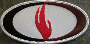 """4 INCHES FLAME 4"""" W ED PARKER KENPO MARTIAL ARTS PATCH - NEW"""