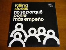 """THE ROLLING STONES 7""""45 I Don't Know Why (DECCA MO 1507) 1975 SPAIN ONLY COVER"""