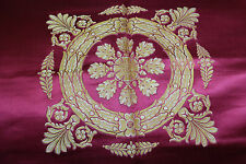 French Empire Lyon Silk Brocade Panel  Napoleonic Neo Classical Decor