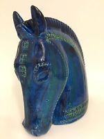 Bitossi horse ceramic head Rimini Blue Aldo Londi Raymor Rosenthal Netter