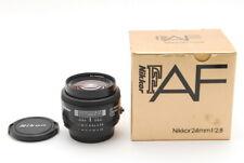 """Near Mint"" Nikon AF Nikkor 24mm F/2.8 Wide Angle Lens w/ Box From Japan D284"