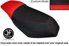BLACK & RED VINYL CUSTOM FOR MALAGUTI PHANTOM F12 100 DUAL SEAT COVER ONLY