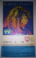 ROBERT PLANT Concert Ticket/Biglietto/Billet LED ZEPPELIN Tendastrisce ROMA 1990