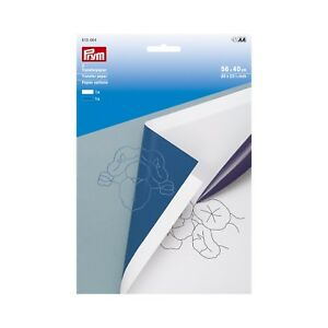 2 Transferpapier 56 x 40cm weiß blau Prym 610464 Kopier Papier Schnittmuster