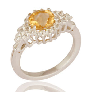 Beautiful Bridal Wedding / Engagement Citrine Gemstone Solitaire Ring Jewelry