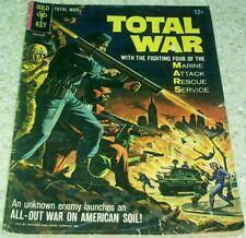 Total War 1, VG+ (4.5) 1965 Wood art! 40% off Guide!