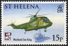 Royal Navy WESTLAND SEA KING Helicopter Aircraft Stamp (2009 St Helena)