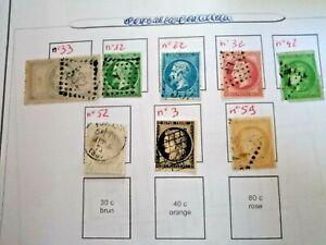 timbres France avant 1900 n°33 - 12- 22- 32- 42- 52- 3- 59