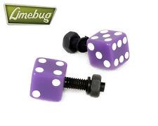 Púrpura Dados número de matrícula Pernos (par) Vw Camper Beetle euro Golf coche Bug