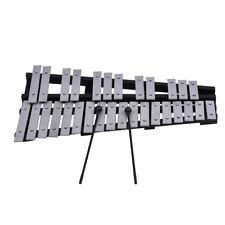 Fleet 30 Glockenspiel Xylophone Vibraphone Foldable+ Mallets Bag+Free Ship V9Y7