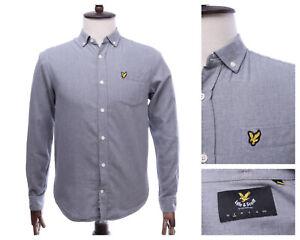 LYLE & SCOTT Grey Button DOwn Cotton LS Shirt Size S