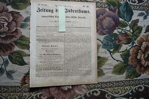 1858 Zeitung 40 Juden 25 Jahre Rabbi in Magdeburg  Philippson / Bologna Italien