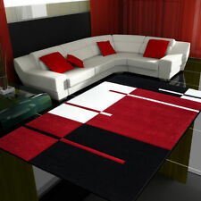 Tapis rouge à motif Géométrique pour la salle de bain