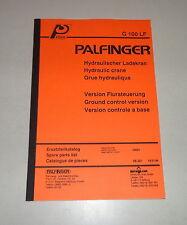 Teilekatalog / Spare Parts List Palfinger Krane G 100 LF Stand 10/1994