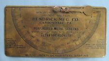 Bronze Hendrick Manufacturing Co Slope Meter-Carbondale PA-Equipment Advertising