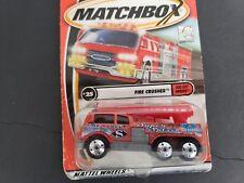 MATTEL MATCHBOX VEHICLE  2000 FIRE CRUSHER 3 INCHES NEW IN BOX