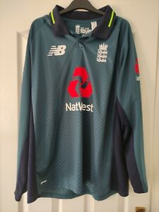 New Balance England Long Sleeve Cricket Shirt Size 2XL