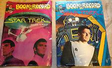Peter Pan Book & Record Sets Star Trek 1979 New Condition Rare