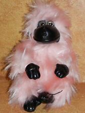 Stuffed Plush Pink Monkey Extra Furry Ape Happy Valentine's Day Cutie