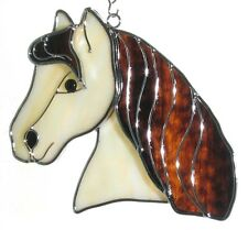Horse Head Stained Glass Suncatcher