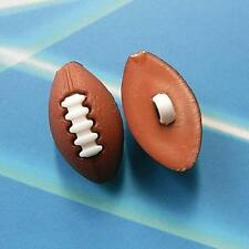 15 Rugby Sport Ball Children Boy Crafting Kid Novelty Sew On Buttons 20mm K21