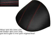RED STITCHING FITS MG MGF MG TF 1995-2005 DASH COWL HOOD LEATHER SKIN COVER