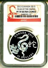2013 S$15 Canada Year Of The Snake NGC PF70 Ultra Cameo