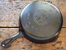 Vintage GRISWOLD Cast Iron SKILLET Frying Pan # 8 LARGE BLOCK LOGO - RESTORED