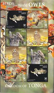 Tonga 2019 Mi. 2293-96 Kleinbogen ** MNH Vögel Eulen Birds Owls Mi. 156,-- €