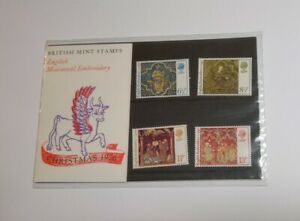 Mediaeval Embroidery Christmas 1976 British Post Office Mint Stamps Pack