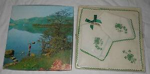 1937 Pure Irish Linen Shamrock Handkerchief Set Ireland Gift Box Sealed Vintage