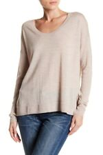 NWT MADEWELL Sweater Hi-Lo Pullover Cream Tan Soft Light Merino Long Sleeve Sz L