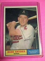 1961 Topps #143 Russ Snyder Baltimore Orioles  NrMt+ SHARP! .