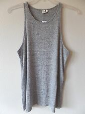 GAP Womens L Softspun Racerback Tank Top Shirt Tunic Heather Gray Stretch New