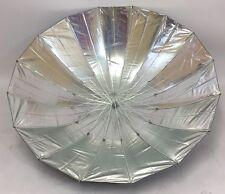 150cm Parabol Riflettori Paralume,150cm Ombrello riflettente argento nero