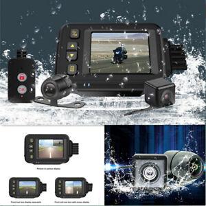 Motorcycle Dash Cam Dual DVR Camera Waterproof Video Cycling Recorder Camcorder