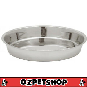 Stainless Steel Puppy Pan - Dog Bowl - Saucer - 3 Sizes