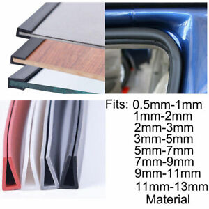 New Rubber U Channel Edging Trim Seal 0.5~13mm Edge Protection From Metal House