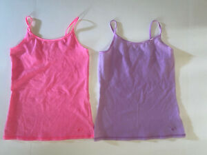 Girls JUSTICE Lot of 2 Cami Tops Pink Lavender Size 10