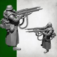 1/35 Deutscher Super Double Gun Resin Soldat