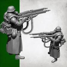 1/35 Deutscher Super Double Gun Resin Soldat