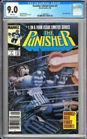 Punisher Limited Series #1 CGC 9.0 WP 1986 3724878003 Jigsaw Newsstand Edition