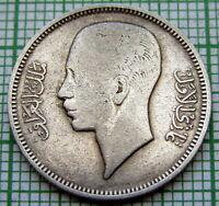 I R A Q KINGDOM GHAZI 1938 - AH1357 20 FILS, SILVER