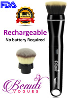 USB Rechargeable 360 Rotating Electric Makeup Brush set Airtouch Quality 2 heads