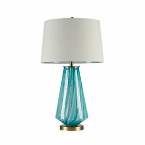 INK+IVY Waves Glass Table Lamp in Blue Finish II153-0022 NEW