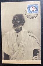 1936 Asmara Eritrea Real Picture Postcard Cover RPPC Cunama Chief