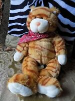 "Build A Bear Orange Striped Tabby Cat Kitten Plush Stuffed Animal 17"" TOMCAT"